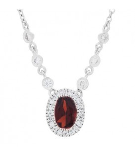 More about 1.07 Carat Garnet and Diamond Necklace in 14 Karat White Gold