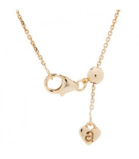Necklaces - Adjustable 18Kt Yellow Gold Rolo Chain Necklace