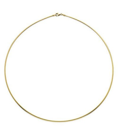 """Necklaces - 14Kt and Sterling Silver Reversible Omega Necklace 20"""""""