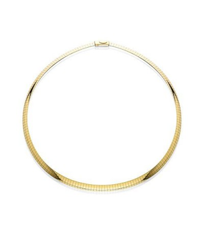 """Necklaces - 14Kt and Sterling Silver Reversible Omega Necklace 16"""""""