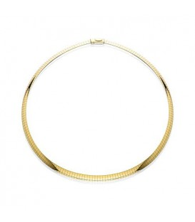 "More about 14Kt and Sterling Silver Reversible Omega Necklace 16"", Width 6 mm"