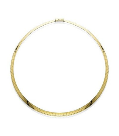 """Necklaces - 14Kt and Sterling Silver Reversible Omega Necklace 18"""""""