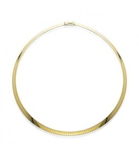 "More about 14Kt and Sterling Silver Reversible Omega Necklace 18"", Width 6 mm"