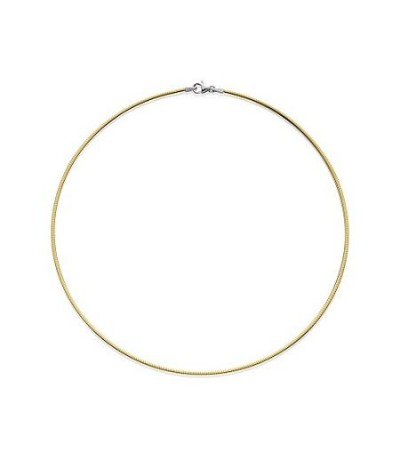 Necklaces - Reversable Omega Necklace 18Kt 16""