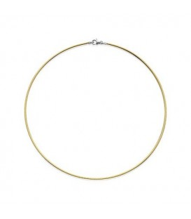 Necklaces - Reversible Omega Necklace 18Kt 16""