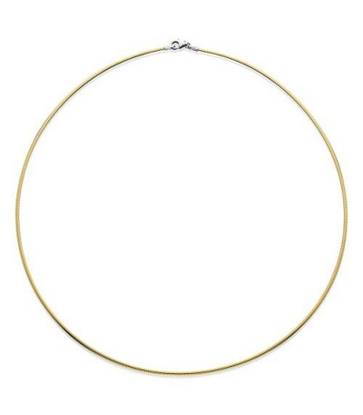 Necklaces - Reversable Omega Necklace 18Kt 20""