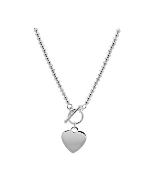 Polished Italian Bead Necklace 925 Sterling Silver