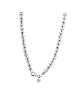 Necklaces - Polished Italian Medium Bead Necklace 925 Sterling Silver