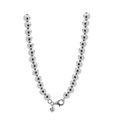 Necklaces - Polished Italian Large Bead Necklace 925 Sterling Silver