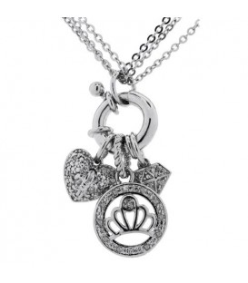 More about Diamond Charm Necklace 925 Sterling Silver