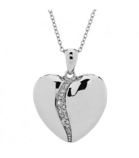 Diamond Heart Pendant 925 Sterling Silver
