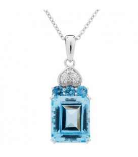 More about Blue Topaz Pendant 925 Sterling Silver Pendant