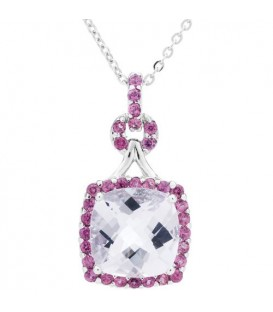 More about Multi-color Pink Amethyst Pendant 925 Sterling Silver