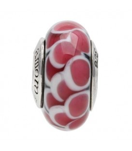 More about Murano Glass Pink Petal Bead Charm 925 Sterling Silver