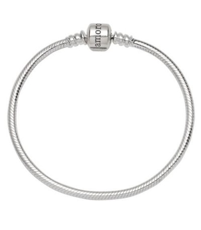 "Charms - Charm style Bead Bracelet 7.5"" 925 Sterling Silver"