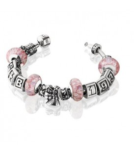 "More about Charm style Bead Bracelet 7.5"" 925 Sterling Silver"
