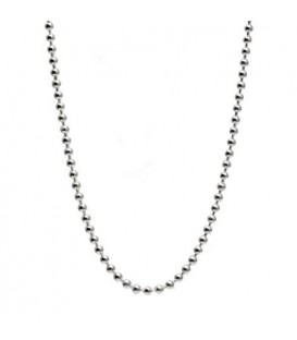 "Bead Chain Necklace 27"" 925 Sterling Silver"
