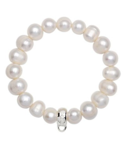 Charms - Cultured Pearl Bracelet 925 Sterling Silver