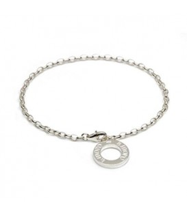 "Charms - Medium Charm Bracelet 7"" 925 Sterling Silver"