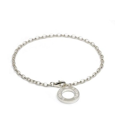 "Charms - Medium Charm Bracelet 8"" 925 Sterling Silver"