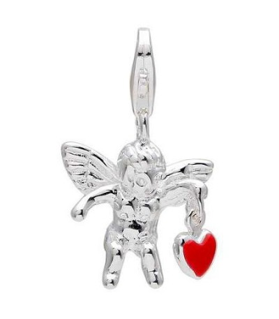 Charms - Cupid Clip on Charm in 925 Sterling Silver