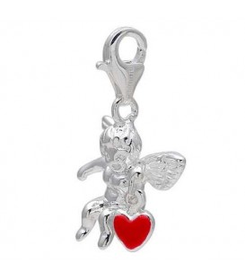 Cupid Clip on Charm in 925 Sterling Silver