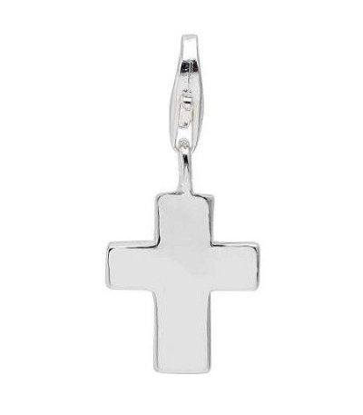 Charms - Cross Clip on Charm in 925 Sterling Silver
