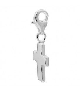 Cross Clip on Charm in 925 Sterling Silver