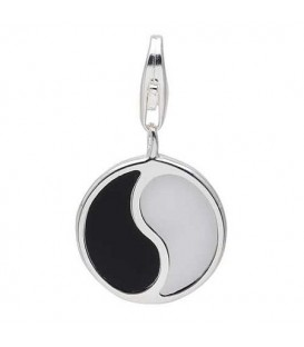 Yin Yang Clip on Charm in 925 Sterling Silver