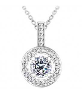 Necklaces - 0.46 Carat Pristine Hearts Pendant 18Kt White Gold