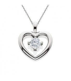 0.46 Carat Eternitymark Round Cut Diamond Solitiare Necklace 18Kt White Gold