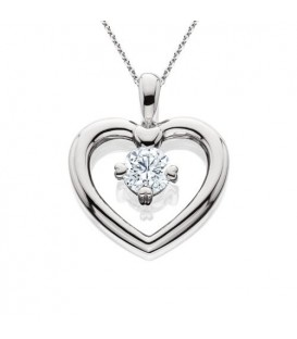 0.71 Carat Eternitymark Round Cut Diamond Solitiare Necklace 18Kt White Gold