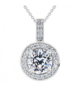 More about 0.79 Carat Pristine Hearts Pendant 18Kt White Gold