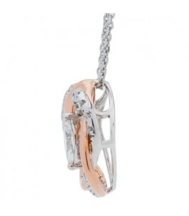 0.50 Carat Diamond Pendant 18Kt Two-Tone Gold