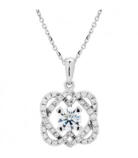 0.77 Carat Eternitymark Diamond Pendant 18Kt White Gold