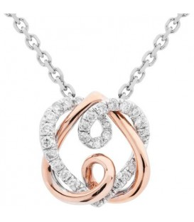 Necklaces - 0.19 Carat Eternitymark Diamond Pendant 18Kt White and Rose Gold