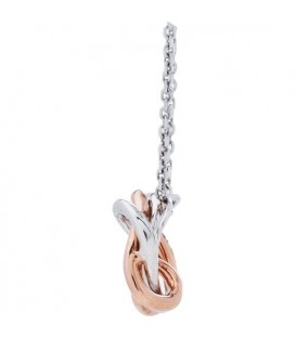 0.19 Carat Diamond Pendant 18Kt White and Rose Gold