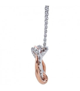 0.25 Carat Diamond Pendant 18Kt White and Rose Gold