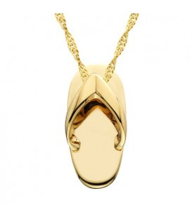 Sandal Pendant 14Kt Yellow Gold