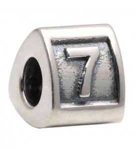 Charms - Number 7 Bead Charm 925 Sterling Silver