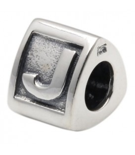 More about Letter J Bead Charm 925 Sterling Silver