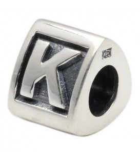 More about Letter K Bead Charm 925 Sterling Silver