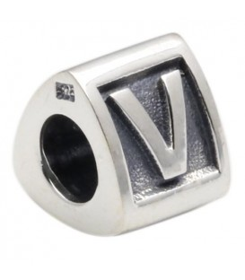 More about Letter V Bead Charm 925 Sterling Silver