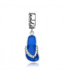 Bahamas Sea Bead Charm 925 Sterling Silver