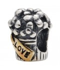 Wedding Bouquet Bead Charm 925 Sterling Silver