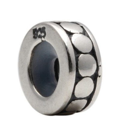Charms - Antique Spacer Bead Bead Charm 925 Sterling Silver