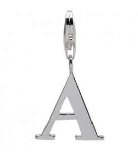 Letter A Clip On Charm 925 Sterling Silver