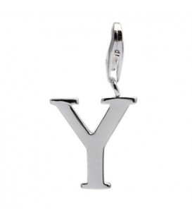 Letter Y Clip On Charm 925 Sterling Silver