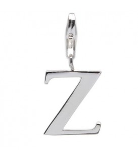 Letter Z Clip On Charm 925 Sterling Silver