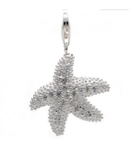 Star Fish Clip On Charm 925 Sterling Silver